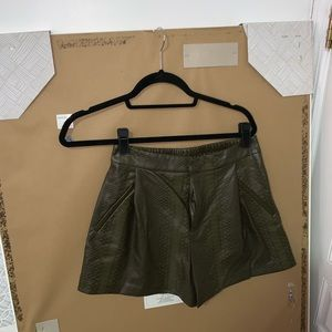 Zara imitation leather shorts snake print size xs